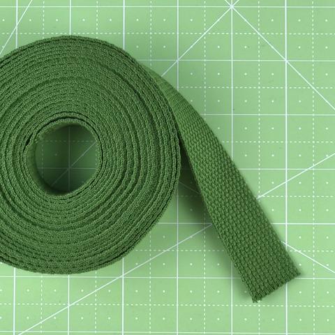 Ременная лента (стропа) 100% хлопок. Цвет темно-зеленый.