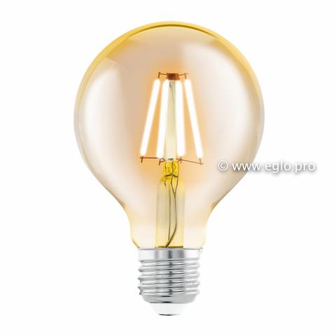 Лампа Eglo филаментная янтарь LM LED E27 (DECO ITEMS) G80 2200K 11556