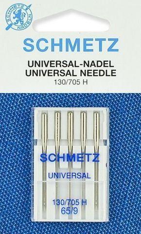 Иглы универсальные Schmetz 130/705H № 65, 5 шт.