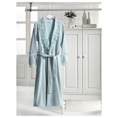 VICTORIA ВИКТОРИЯ бирюза махровый женский халат Soft Cotton (Турция)