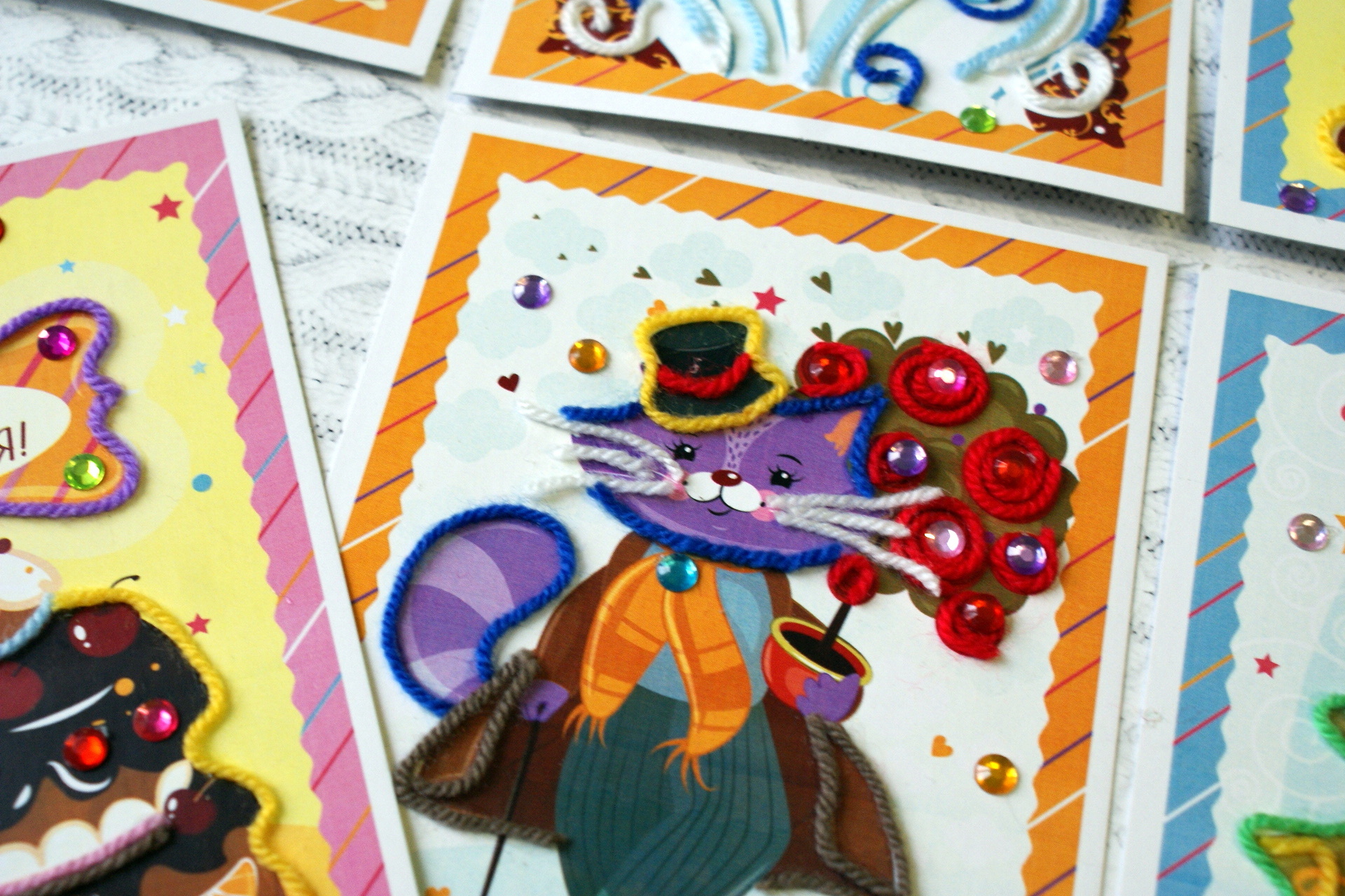 Картинки, на покупку 6 открыток