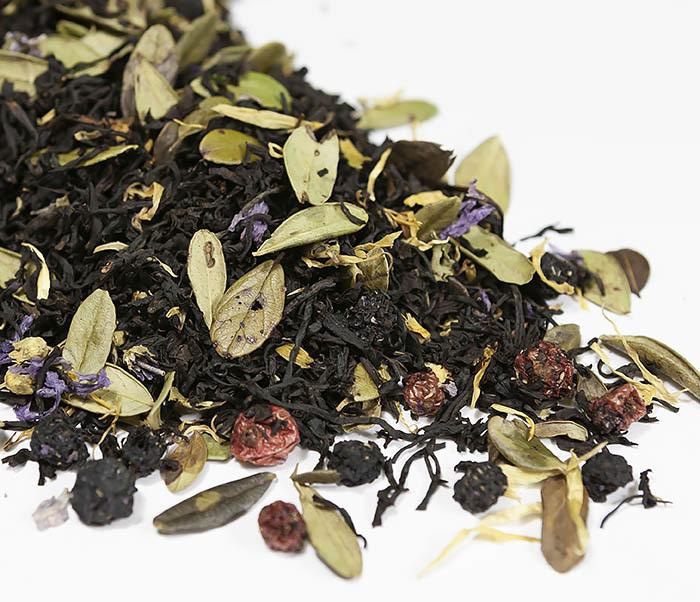 TEA-AR113 Черный ароматизированный чай «Таежный Сбор», черные типсы (50 гр) фото 01