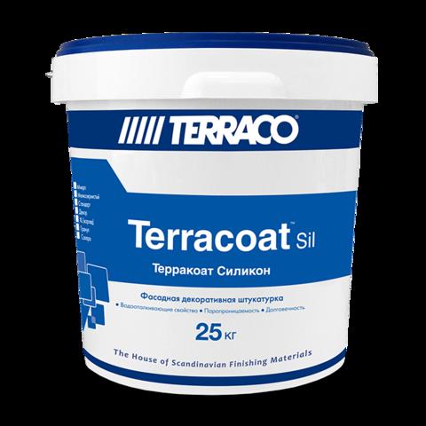 Terraco Terracoat Standart Silicone/Террако Терракоат Стандарт Силикон декоративное покрытие на  силиконовой  основе  с  высокой текстурой  типа «шагрень»