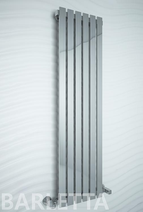 Barletta E - электрический дизайн полотенцесушитель цвета хром с прямоугольными вертикалями.