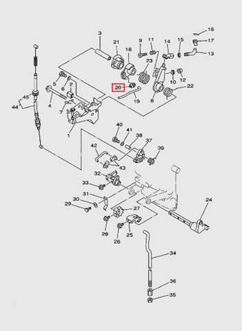 Шарнир тяги дросселя  для лодочного мотора T15, OTH 9,9 SEA-PRO (12-20)