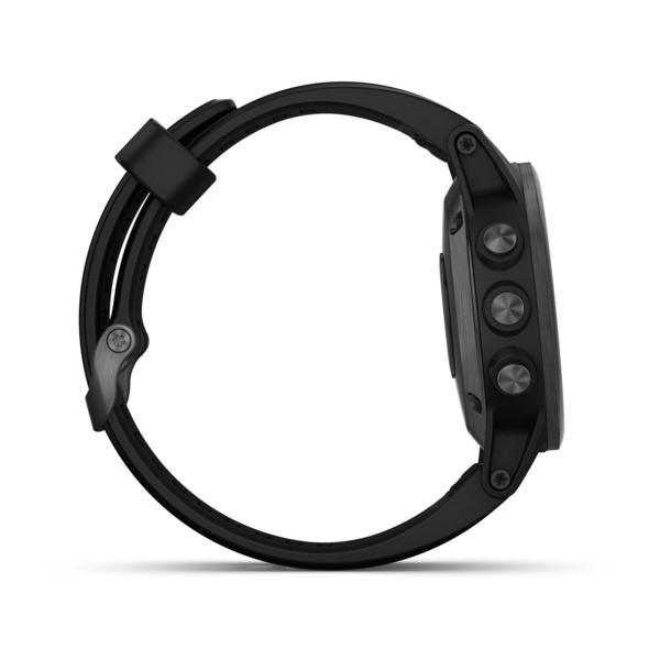 Fenix 5s Plus Sapphire черные с черным ремешком