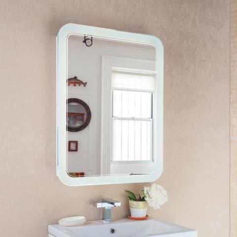 Шкаф зеркальный с подсветкой Vanda Lux 60  Белый