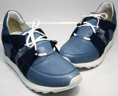 Спортивная обувь на танкетке Ledy West 1484 115 Blue.