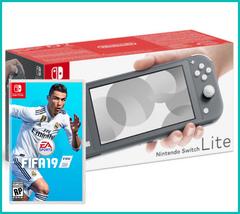 NS: Nintendo Switch Lite (серый) + FIFA 19