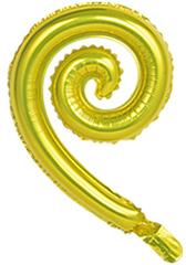 К Мини-фигура с клапаном, Спираль, Золото, 17''/43см, 5 шт.