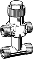 Клапан 3-ходовой зональный Schneider Electric с байпасом VZ42-G1/2-0,40