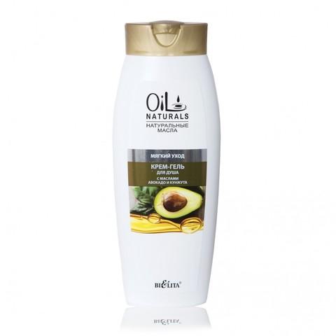 Белита Oil Naturals Крем-гель для душа с маслами АВОКАДО и КУНЖУТА Мягкий уход 430мл
