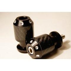 Слайдеры на маятник мотоцикла с карбоновыми вставками, 30х55 мм Черный