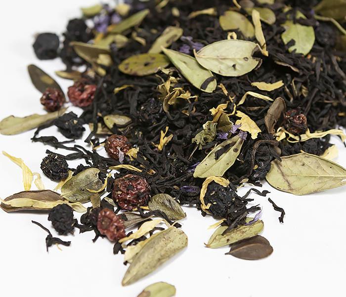 TEA-AR113 Черный ароматизированный чай «Таежный Сбор», черные типсы (50 гр) фото 03