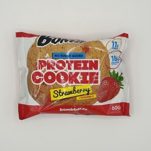 Печенье протеиновое вкус Клубника BOMBBAR, 60 гр