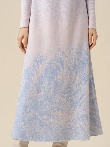 Женское платье мультиколор из кашемира и вискозы - фото 3