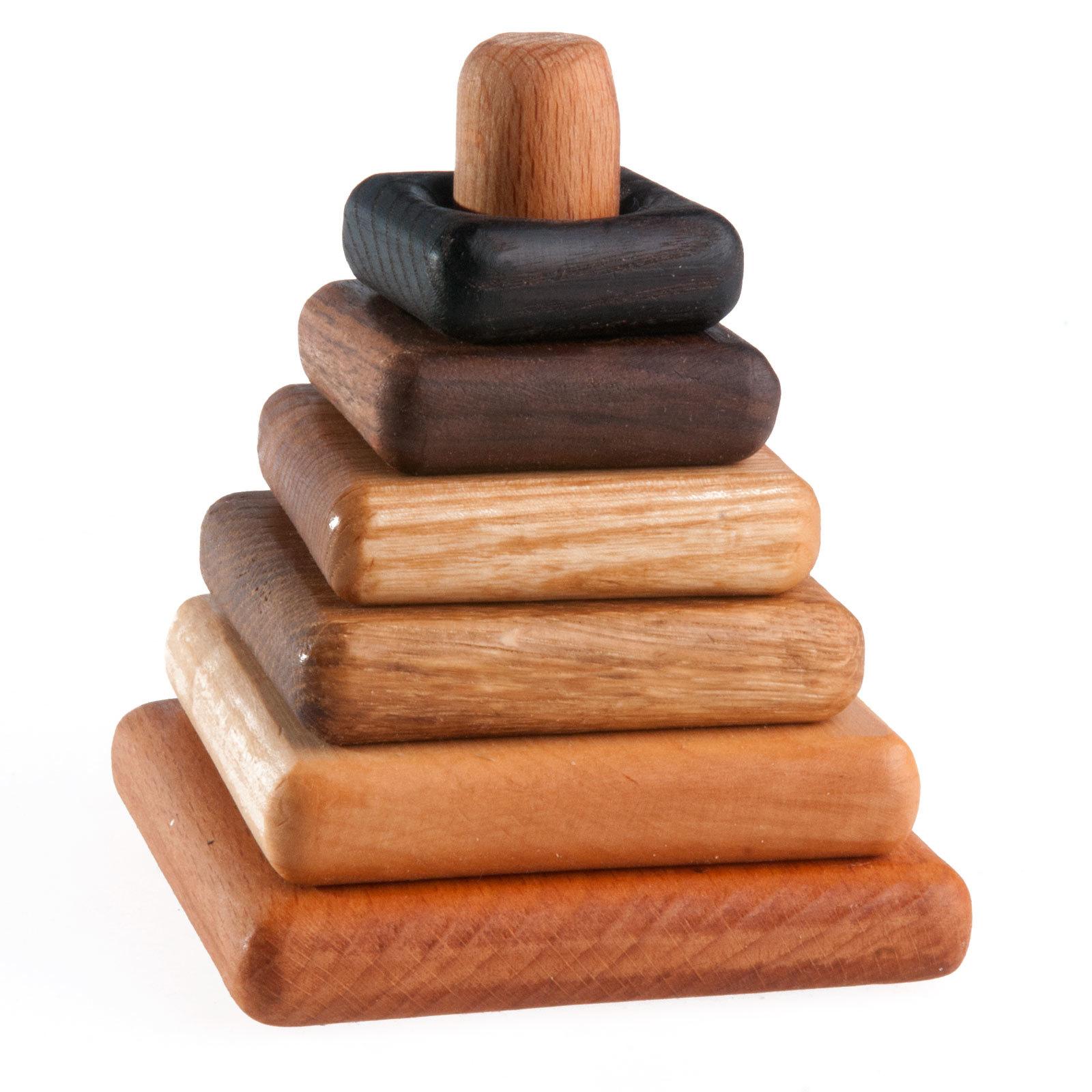 Пирамидка деревянная квадратная