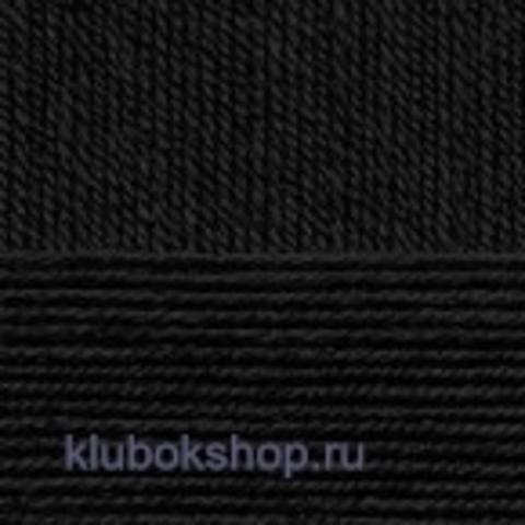 Пряжа Цветное кружево (Пехорка) цвет Черный 02 купить в интернет-магазине klubokshop.ru