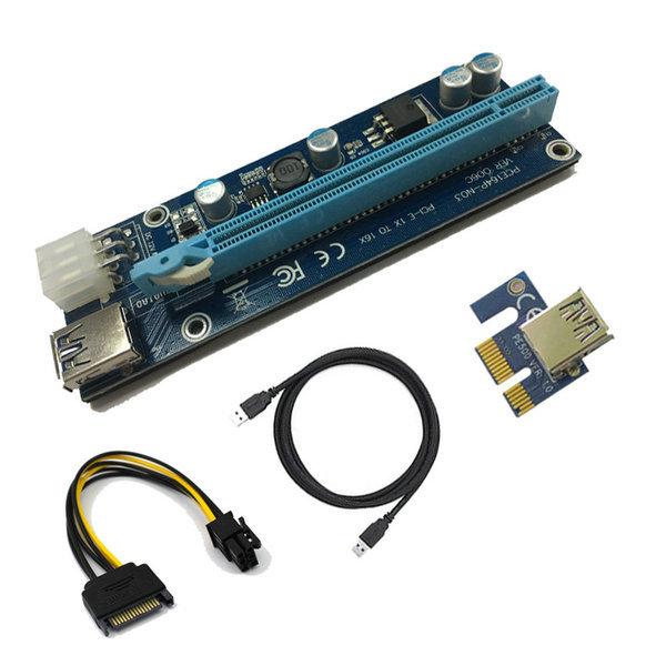 Riser x1 to x16 PCI-E в комплекте