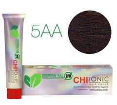 CHI Ionic 5AA (Средне-коричневый двойной пепел) - Стойкая краска для волос 85 гр