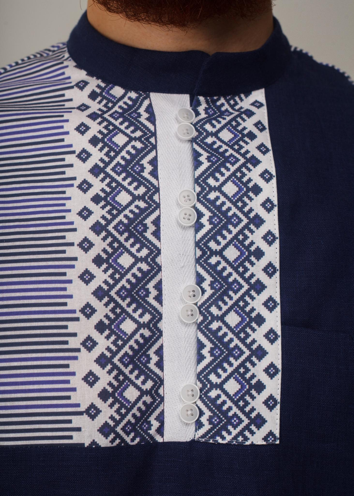 Рубашка мужская Сибирская Приближенный фрагмент