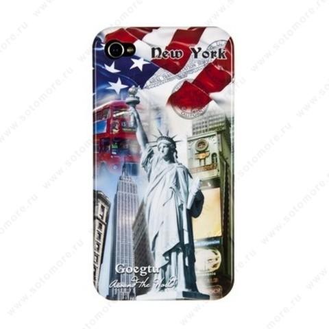 Накладка Goegtu для iPhone 4s/ 4 NEW YORK