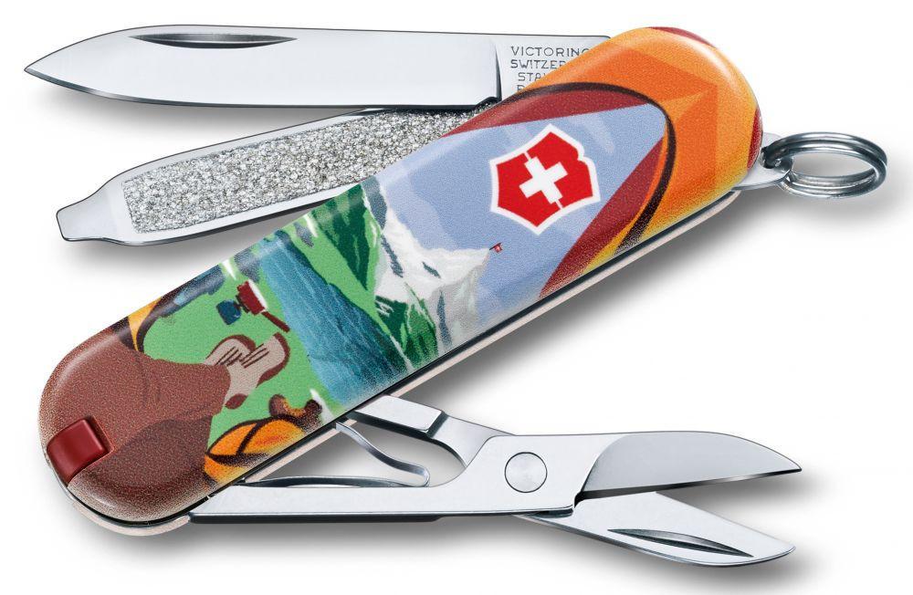 "Нож-брелок Victorinox Classic LE 2018, 58 мм, 7 функций, ""Call of Nature"""