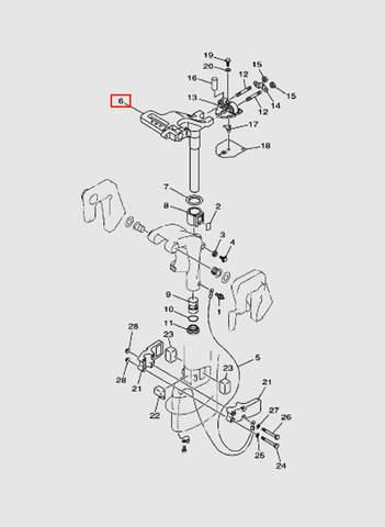 Кронштейн поворотный  для лодочного мотора T15, OTH 9,9 SEA-PRO (14-6)