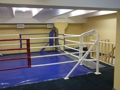Ринг боксерский, напольный на упорах 5х5м.