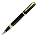 Waterman Exception Ideal Black/GT перо золото 18Ct M (S0636790)