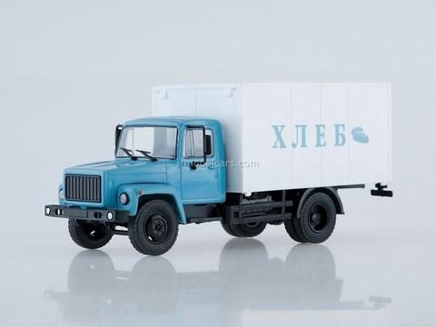 GAZ-3307 Van Bread blue-white 1:43 Our Trucks #4 (limited edition)