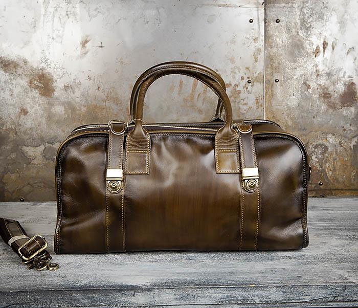 BAG459-3 Мужская дорожная сумка из натуральной кожи фото 02