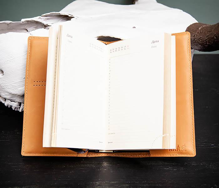BY05-52-01 Красивый ежедневник «Мои заметки» в обложке из натуральной кожи (А6) фото 06