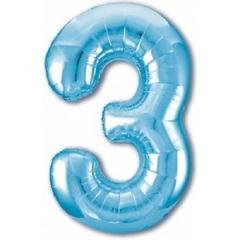 Р Цифра, 3, Slim, Голубой, 40''/102 см, в упаковке 1 шт.