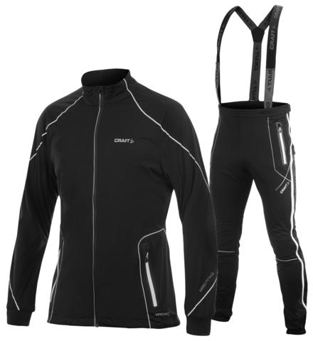 CRAFT HIGH FUNCTION ZIP мужской лыжный костюм черный