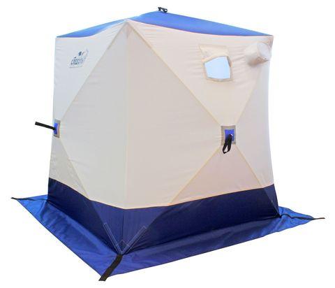 Палатка зимняя СЛЕДОПЫТ Куб 1,5х1,5х1,7м  (бело/синий)
