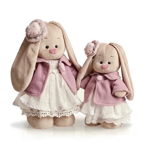 Зайка Ми в фиолетовом пальто и белом платье (большая)