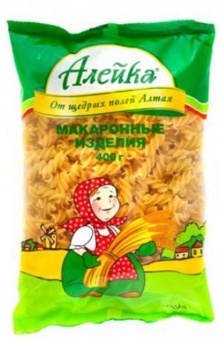 """Макаронные изделия """"Алейка"""" спираль 400 г"""