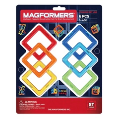 MAGFORMERS  Магнитный конструктор Квадраты 6 (63086)