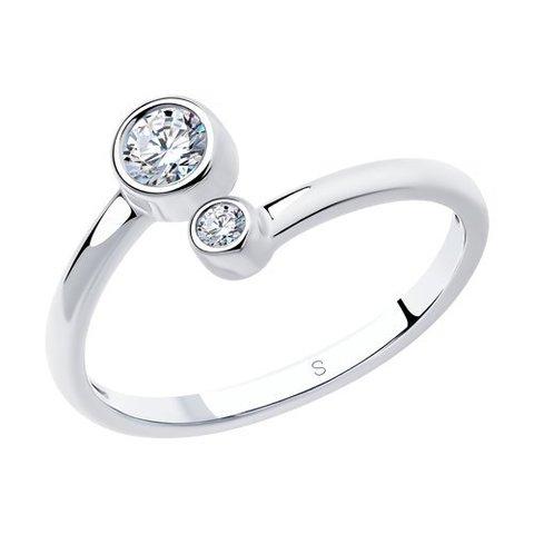 94011463 - Разъемное кольцо из серебра с фианитами