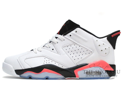 Кроссовки Мужские Nike Air Jordan VI Low White Black Coral