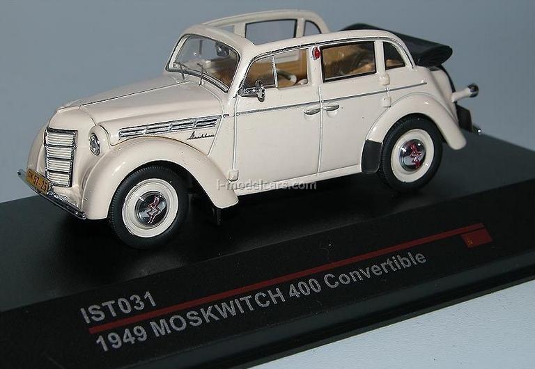 model cars moskvich-400-420a cabrio beige 1949 ist031 ist models 1:43, Moderne deko