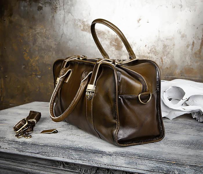 BAG459-3 Мужская дорожная сумка из натуральной кожи фото 05