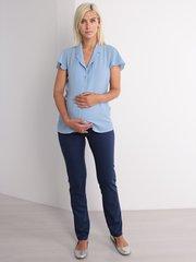 Евромама. Брюки летние для беременных, темно-синий