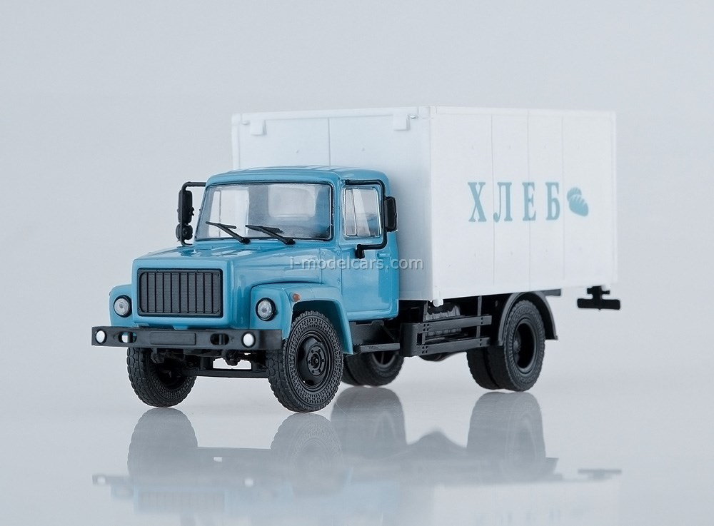 GAZ-3307 Van Bread blue-white 1:43 Our Trucks (limited edition)
