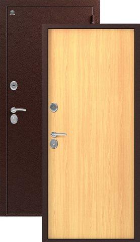Дверь входная Сибирь S-1, 2 замка, 1 мм  металл, (медь+миланский орех)