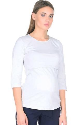 Лонгслив для беременных и кормящих 09913 светло-серый