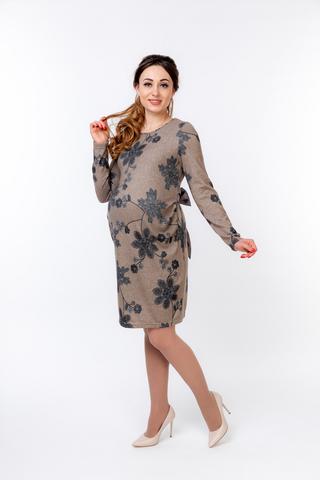 Платье 09819 коричневый