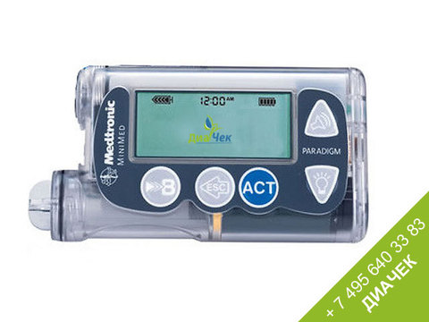 Инсулиновая помпа Медтроник МиниМед Парадигм  РЕАЛ-Тайм 722 (Medtronic MiniMed Paradigm® REAL-Time)