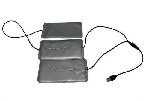 Греющий комплект Redlaika для любой одежды ГК3-USB (3 модуля, без Power Bank)
